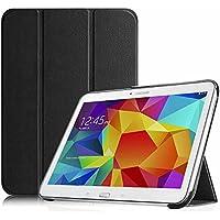 """Fintie SlimShell Funda para Samsung Galaxy Tab 4 10.1"""" - Súper Delgada y Ligera Carcasa con Función de Soporte y Auto-Reposo/Activación para Modelo SM-T530/T535, Negro"""