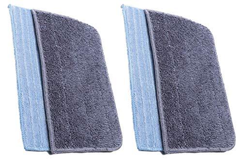 FIND A SPARE Waschbare Mikrofaser-Pads für Hoover SSN1700 Dampfreiniger, 4 Stück