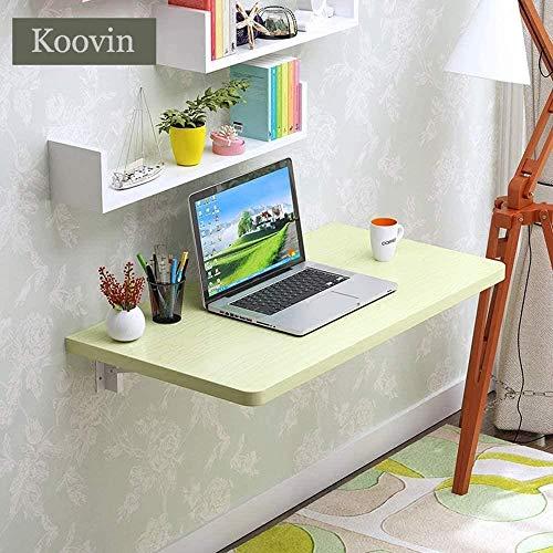 JIADUOBAO Mesa plegable de pared con espacio pequeño para el aprendizaje de la computadora, mesa de comedor, mesa de café (color: arce blanco, tamaño: 40 x 70 cm)