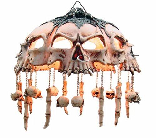 Elektrische Lampe zur Befestigung an der Decke - Totenköpfe und Fingerknochen - FIGUREN