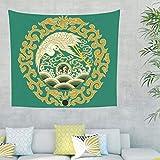 Zhcon Kran Wandbehang Wand aufhängen Tier Bed Sheet Picnic Beach Sheet, Home Dekor für Wohnzimmer Schlafzimmer Dekor drakblack 200x150cm