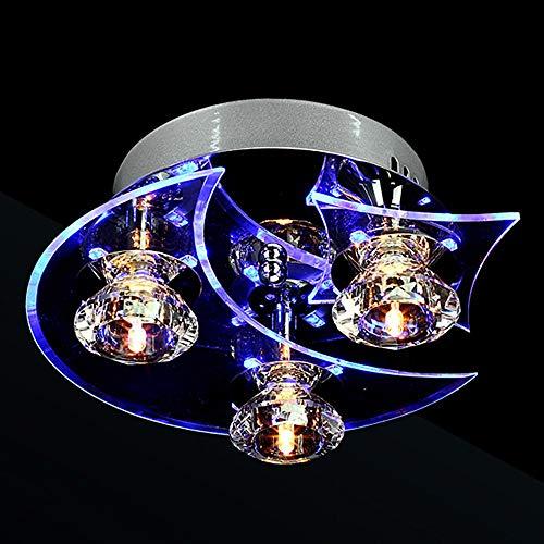 KK Timo - Lámpara de iluminación para restaurante, creativa, sala de estar, lámpara de dormitorio, luna de modo personalizado, estrella de conducción, 24 x 14 cm