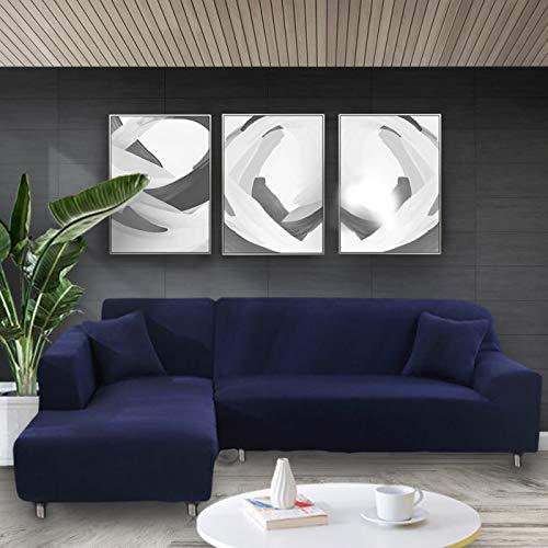 WXQY Funda de sofá Blanca elástica Funda Ajustada elástica Funda de sofá de Sala de Estar Funda de sofá antiincrustante Todo Incluido Funda de sofá de Silla A17 3 plazas