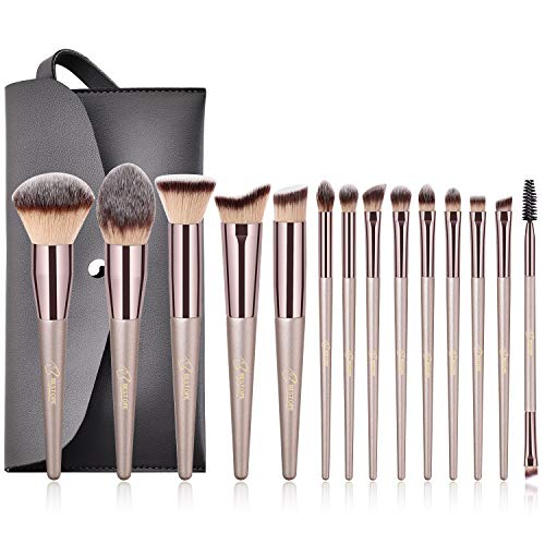 BESTOPE Make up Pinsel Set Pinselsets mit Ledertasche Bestes Geschenk Make up Pinsel Kosmetik...