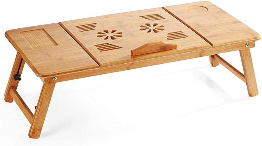 YUNWEI Lit Simple pour Ordinateur portable avec Table Pliante Bureau de Bureau Simple