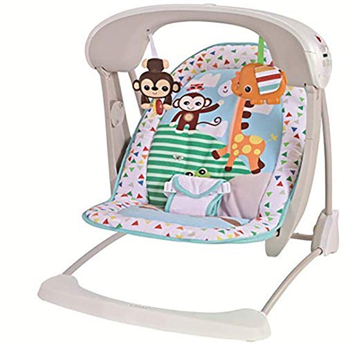 LQUIDE Rainforest Friends Newborn-to-Toddler Rocker, New-Born Baby Bouncer and Can be Used as a Baby Chair, Suitable from Birth