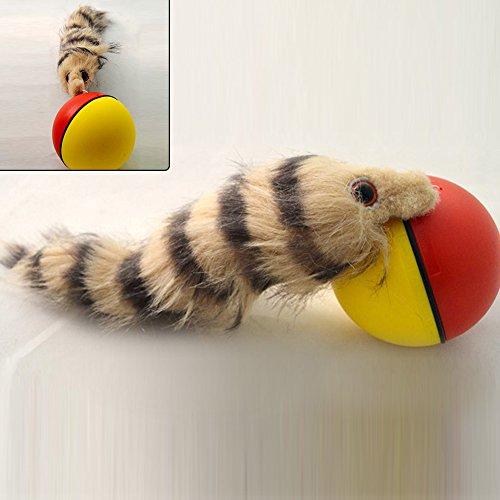GEZICHTA Rolling Ball Spielzeug Funny Weasel motorisiert Rolling Ball Jump beweglichen Spielzeug Pet Hund Katze Weasel Toys–zufällige Farbe