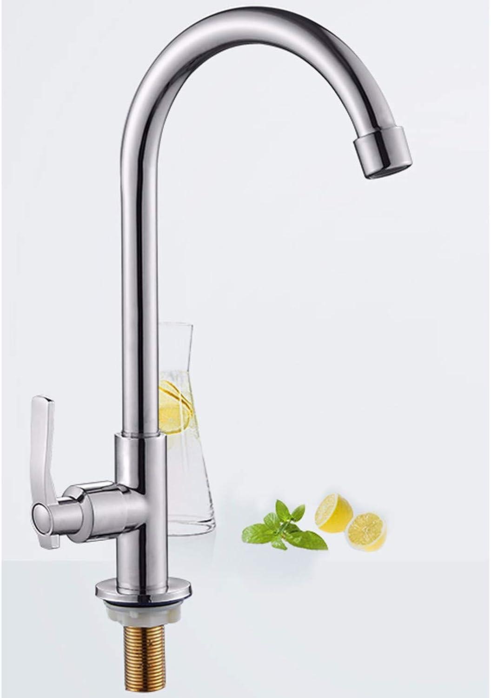 Kitchen tap All Copper Tap, Single Cold Tap, Kitchen Faucet, Swivel Basin Faucet,B