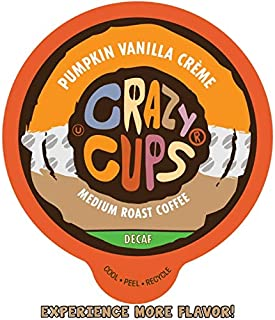Crazy Cups Flavored Decaf Coffee, for the Keurig K Cups 2.0 Brewers, Pumpkin Vanilla Creme,10.1 oz, 22 Count