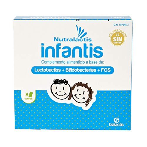 Probiótico Nutralactis Infantis - 12 sobres con 3.000 millones de UFC para niños - Refuerza el sistema inmunitario, reduce las alteraciones gastrointestinales y el riesgo de trastornos alérgicos