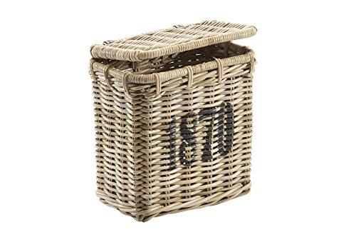 Kobolo Universalkorb Aufbewahrungskorb Wäschebehälter Rattankorb Ornungshellfer Regalkorb