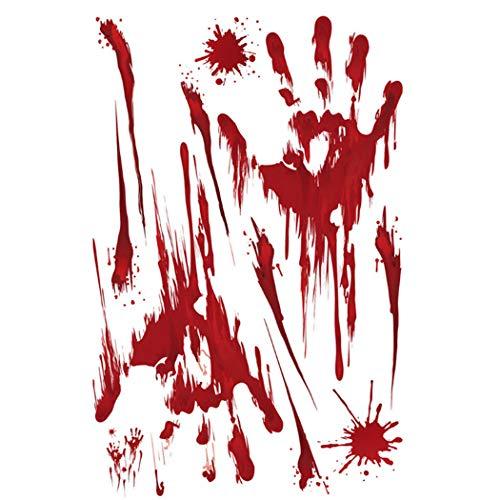 Fansport Halloween Auto Aufkleber Scary Blutige Hände Muster Removable Auto Aufkleber Aufkleber Auto Dekoration
