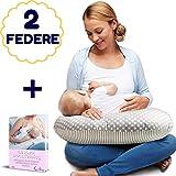 Royal Baby Cuscino Allattamento Neonato Multifunzione Con 2 Federe In Cotone Sfoderabile e Lavabile...