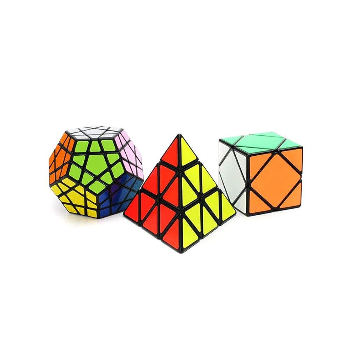ホイットニー一致するペースAishanghuayi なめらかな多角形の立方体を使ったルービックキューブ、贈り物、安全で環境にやさしいデザインスタイル、丈夫な(3枚) 丈夫 (Edition : Three-piece suit)
