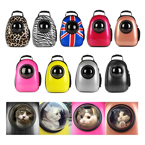 EgBert Transpirable Cápsula Mascota Gato Y Perro Cachorro Viaje Astronauta Espacio Mochila Portador Bolsa - Bandera
