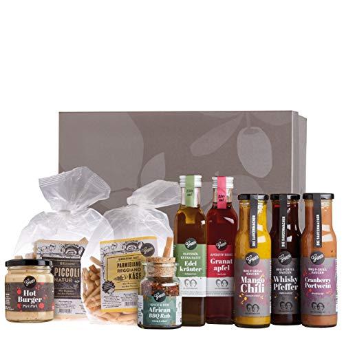 Gepp's Feinkost Gourmet Grillpaket I BBQ Paket für Männer & Frauen mit den besten Zutaten zum Grillen I Grillzubehör aus feinen Gewürzen, raffinierten Saucen, Essig & Öl uvm. (A0049)