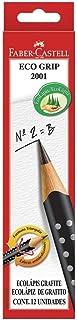 Lápis Grafite Nº 2B Triangular, Faber-Castell, EcoLápis Grip 2001, 12 Unidades, Preto