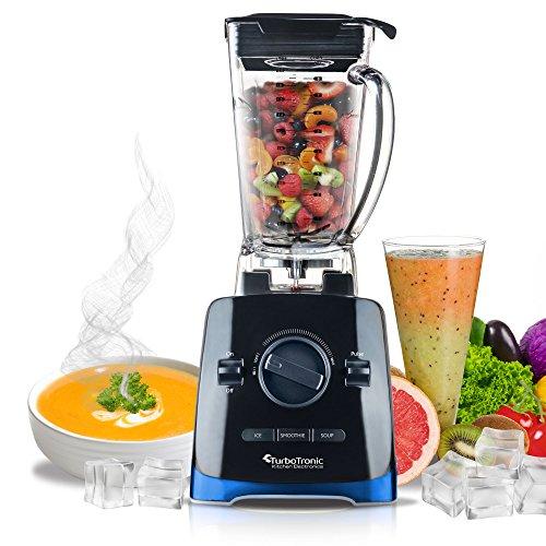 1500 W krachtige Blender 28000 omw/min + receptenboekje, 2 liter tritan Reservoir, 6 RVS klinken, high-performance mixer, blauw