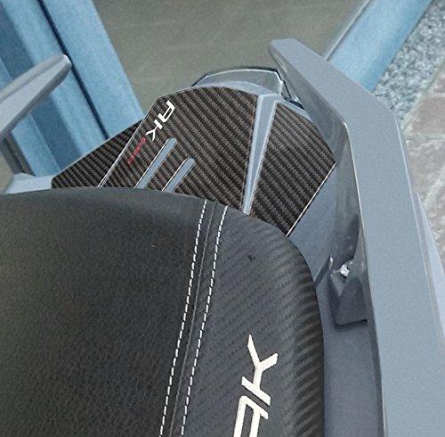 Pigtail Pegatinas 3D de resina de gel compatible con Kymco AK 550 Carbon Look Scooter