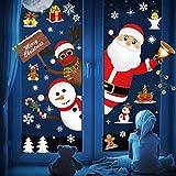 Tuopuda Natale Adesivi Natale Vetrofanie Adesivi per Finestre Sticker Decorativi da Finest...