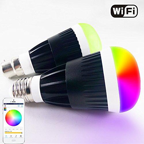 Expower WiFi Bombilla LED Smart RGB multicolor, Inalámbrico...
