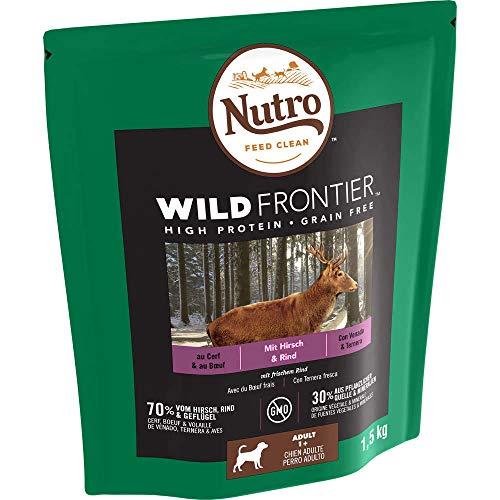 Nutro Hundefutter Trockenfutter Wild Frontier Adult 1+ Mit Hirsch & Rind, 1 Beutel (1 x 1.5kg)