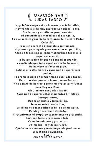 Oración San Judas Tadeo Cuaderno De Notas: Cuaderno con Oración San Judas Tadeo en la tapa - Regalo Religioso y Espiritual para Amigo o Amiga o ... Católicas Favoritas en Articulos Religiosos