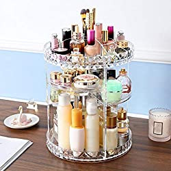 360 Degree Rotating Acrylic Makeup Organizer Cosmetics Storage Stand US Stock, Ship from US Warehouse Home Garden Furniture
