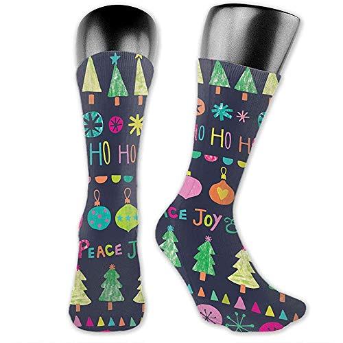 Mailine Weihnachts-Clipart Unisex Casual Crew Socken Tägliche Sportsocken
