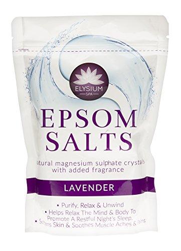 Elysium Spa Sore Muscle & Back Soak – Lavande/Spa Bain Minéraux/BP Sulfate de magnésium de qualité alimentaire -FMCG