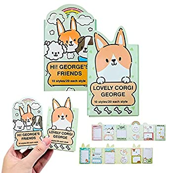 2 Pack Cute Markers Index Tabs Funny Animals Sticker Bookmark Marker Memo Flags Index Tab Sticky Notes Writable and Repositionable File Tabs Flags