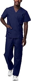 Sivvan Unisex Classic Scrub Set V-Neck Top/Drawstring Trousers