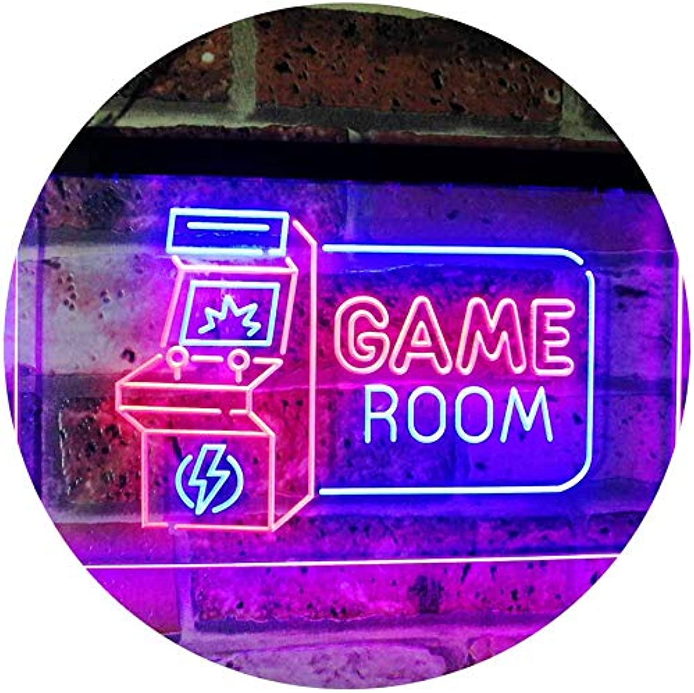 Game Room Arcade TV Man Cave Bar Club Dual Farbe LED Barlicht Neonlicht Lichtwerbung Neon Sign rot & Blau 400mm x 300mm st6s43-j2850-rb