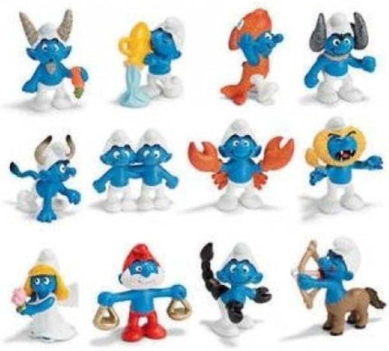 Schleich Zodiac Smurf Set 3x12 figures