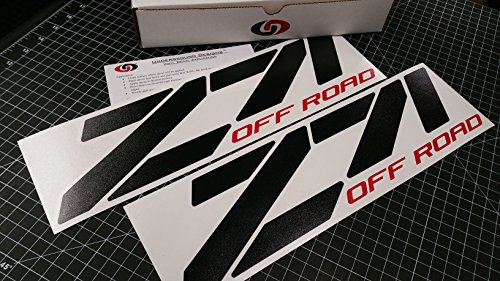 UNDERGROUND DECALS ORIGINAL PRODUCT Z71 Off Road Chevy Fender Decal Tailgate Sticker 15' Gloss Black & RED