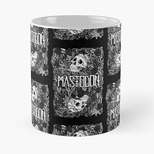 Rock Music Art Skull Mas Classic Mug - Novelty Ceramic Cups 11oz, Unique Birthday And Holiday Gifts For Mom Mother Father-teiltspe