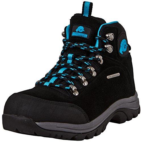 GUGGEN Mountain M014 Damen Trekking-& Wanderstiefel Outdoorschuhe wasserdicht mit Membran und Wildleder Farbe Blau EU 38