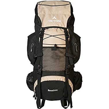 TETON Sports Scout 3400 Internal Frame Backpack; with a New Limited Edition Color; Free Rain Cover Included