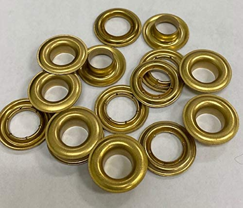 #2 3 8'' Brass - Import Stimpson Charlotte Mall with Grip Grommets Fasnap Compatible