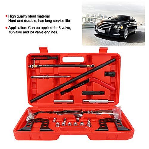 GOTOTOP Instalador de desmontaje del compresor del Kit de Herramientas de Servicio de la Culata de Acero para Motores de 8 16 24 válvulas