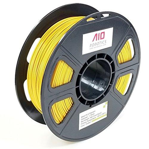 AIO Robotics filamento stampante 3D Premium, metallo PLA, bobina da 0,5 kg, diametro 1,75 mm, metallo dorato