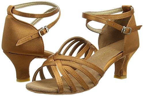 Amurleopard Damen Latein Schuhe 5cm Absatz Dunkelbraun 39(Herstellergröße:40) - 5