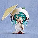 WMYATING Realista y divertido 10cm Vocaloid Hatsune Miku Nieve Miku Fresa Blanco Kimono Ver PVC Modelo Anime Figura de Acción Brinquedos Muñeca