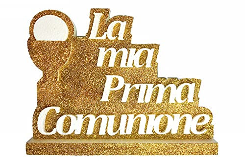 La Mia Prima Comunione in Polistirolo con base - 40 cm di larghezza, 25 cm di altezza e 3 cm di spessore