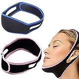 Txiangyang 2 uds, Cinturón Adelgazante Facial, cinturón de Estiramiento Facial,cinturón Antiarrugas para Mujeres, Elimina la flacidez, Estiramiento de la Piel, reafirmante, antienvejecimiento