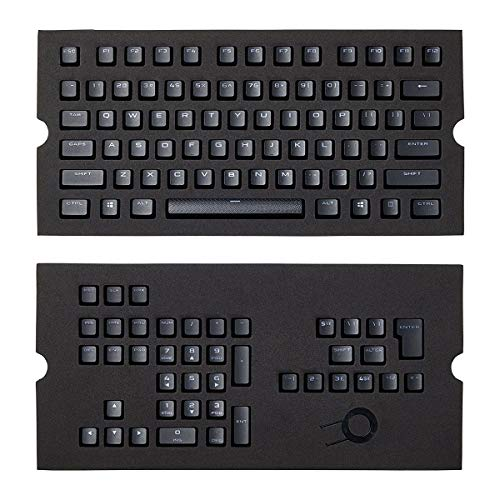 Corsair Pbt Double-Shot Keycaps Full 104/105-Keyset - RGB & Backlit Compatible – for Mechanical Keyboards - FPS MOBA MMO - Black