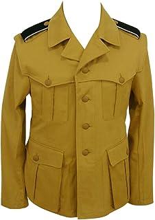第二次世界大戦 ドイツ軍 アフリカ軍団/熱帯用 武装したエリート 砂の色 野戦用 ジャケット制服 軍衣 I - イタリア 'サハラ'-6XL