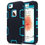 ULAK iPhone 5S Case, iPhone SE Case 3in1 Shockproof Combo