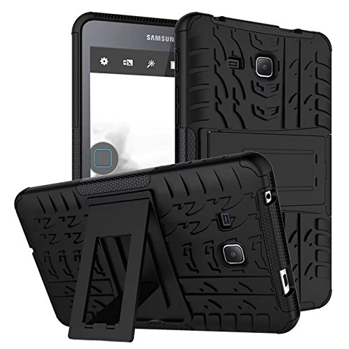 XITODA Samsung Galaxy Tab A6 7 Tablet Case, Hybrid Armor Cover Tough Protective Skin Hard Kickstand Tablet Case for Samsung Galaxy Tab A 7.0 Inch SM-T280/T285 Tablet-PC - Black