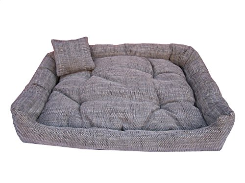 Unbekannt Hundesofa Hundebett Hundekorb grau Baumwolle120 cm x 100 cm x 25 cm